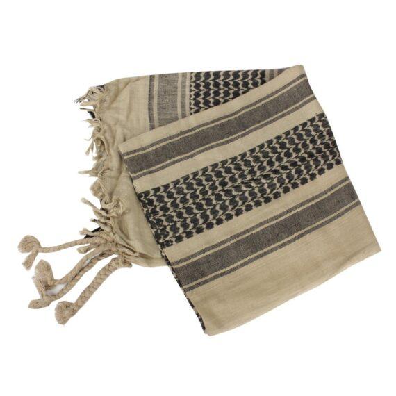 Arafatka Chusta Kefija Khaki-Czarna Mil-Tec